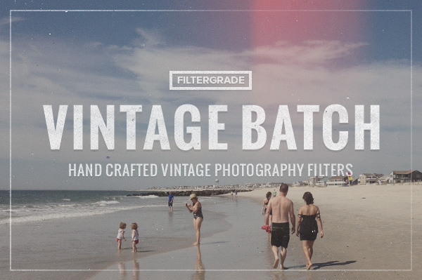 FilterGrade Vintage Batch Photoshop Actions