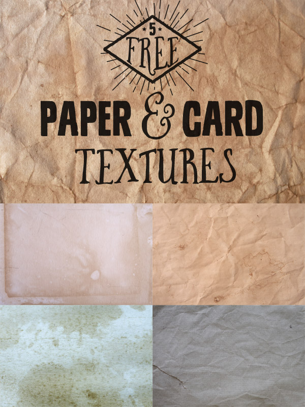 5 Free Paper & Card Textures
