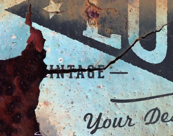 Rusty metal logo mockup preview
