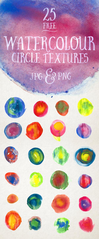 25 Free Watercolour Circle Textures