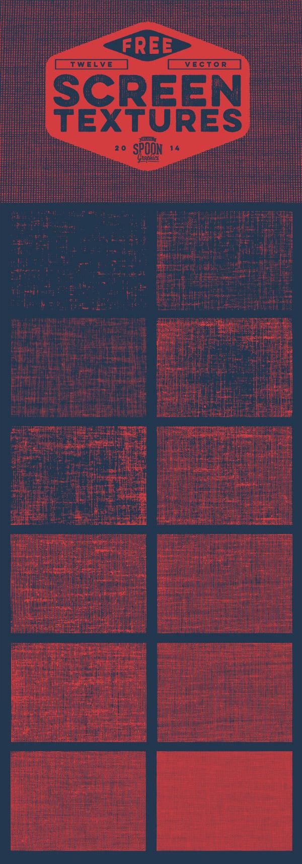 12 Free Vector Screen Textures