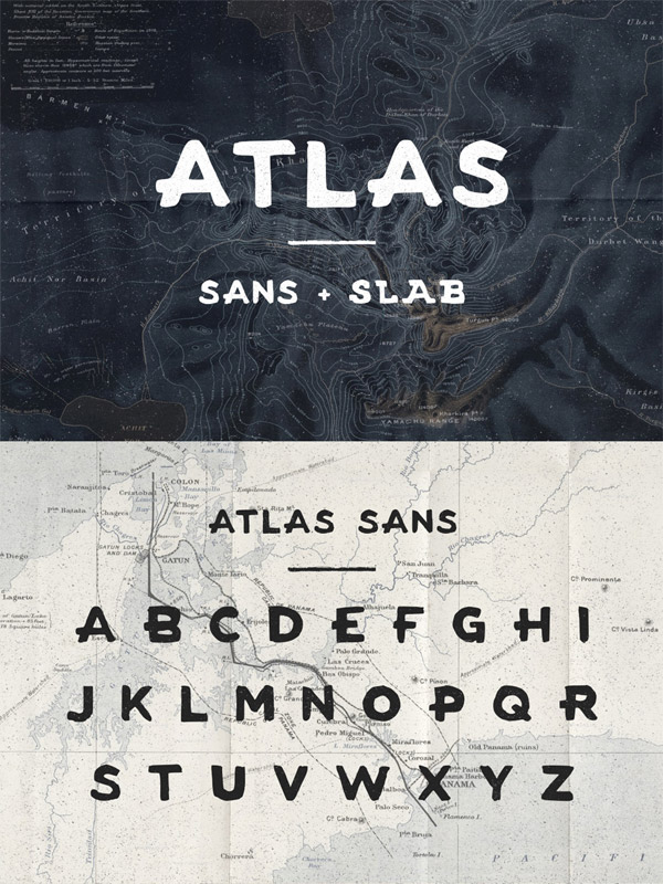 Atlas font preview