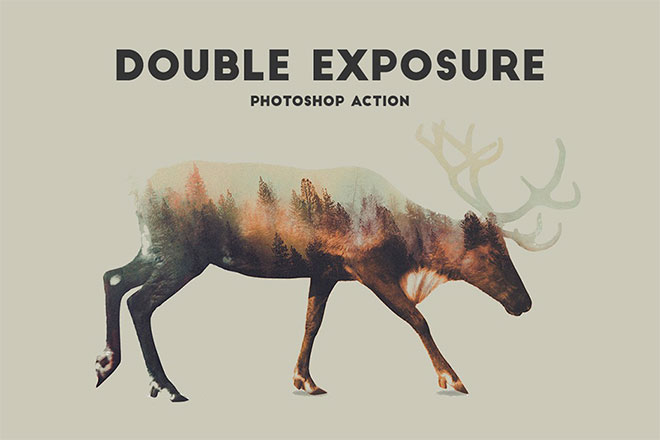 Double Exposure Photoshop Action Pro