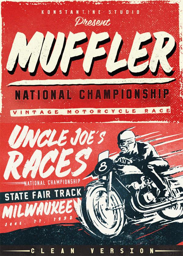 Muffler font preview