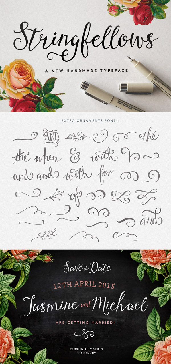 Stringfellows font preview