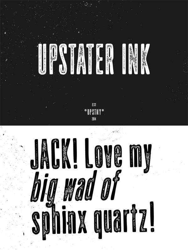 Upstater Ink font preview