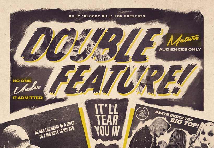 20 Movie Posters In The Style Of Vintage Horror Films
