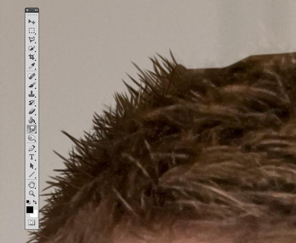 Cutting out hair