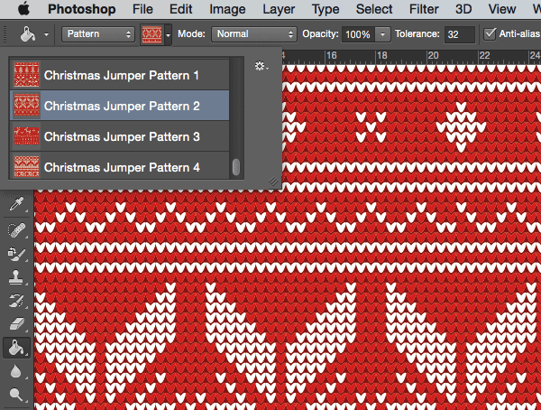 Photoshop Christmas Jumper Patterns