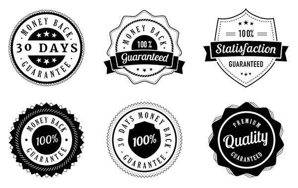 Vintage Guarantee Badges