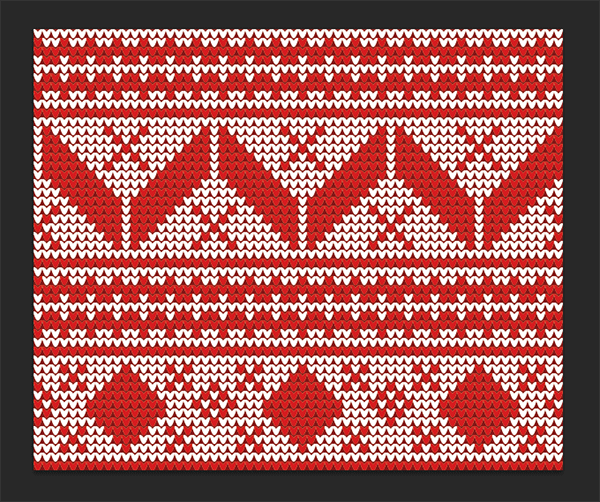 Repeating Christmas Jumper patterns