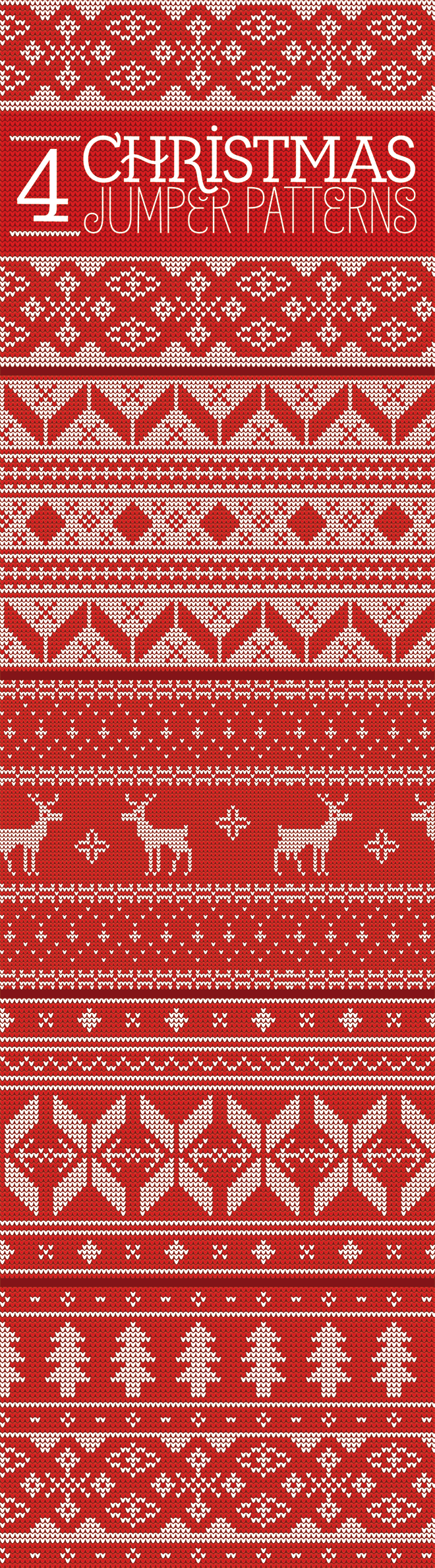 Quick Knits Free Pattern : 4 Free Seamless Knitted Christmas Jumper Patterns