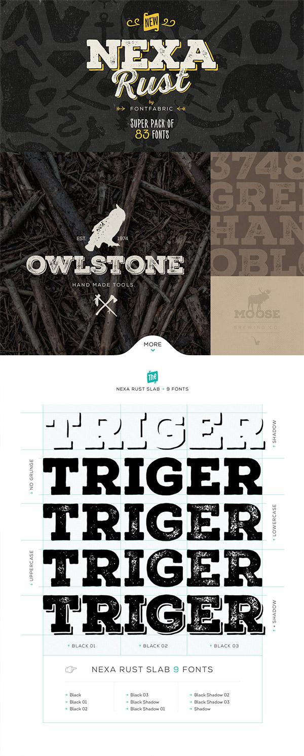 Nexa Rust font preview