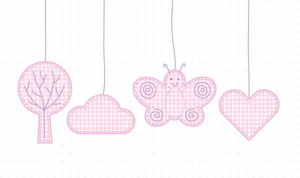 Baby style mobile illustration