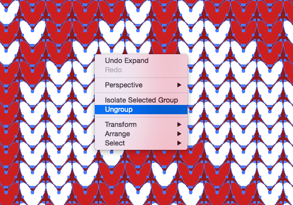 b78d0e90cccb8 Repeatedly right click and select Ungroup to break apart the expanded  elements until each shape can be selected individually.