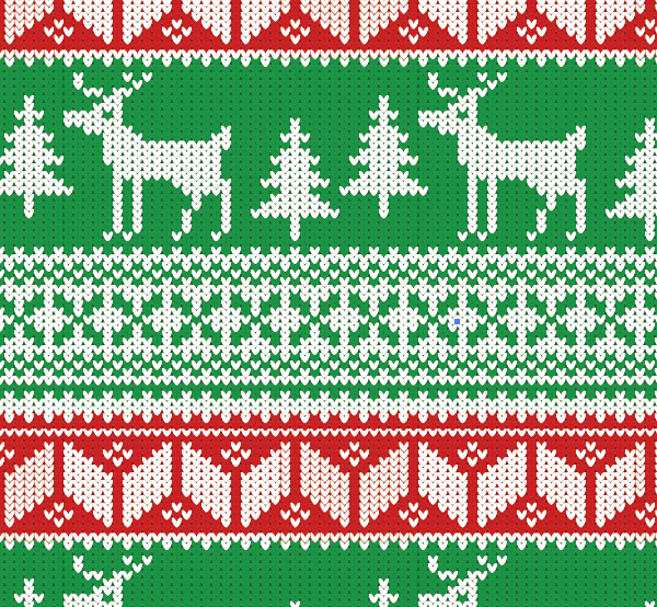 Knitting Pattern Christmas Jumper : How To Create a Christmas Jumper Pattern in Illustrator