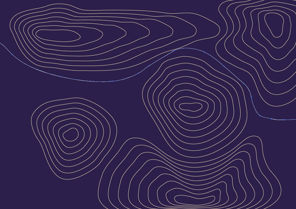 Most Characteristic Of Contour Line Drawing : How to create a contour map effect in illustrator