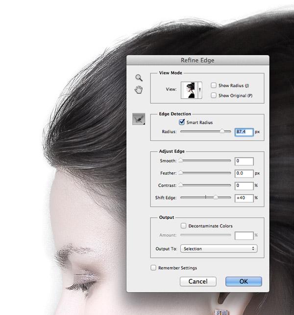 photoshop how to make selection a line