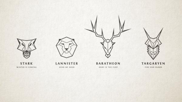 Game of Thrones Inspired Line Art Logos in Illustrator