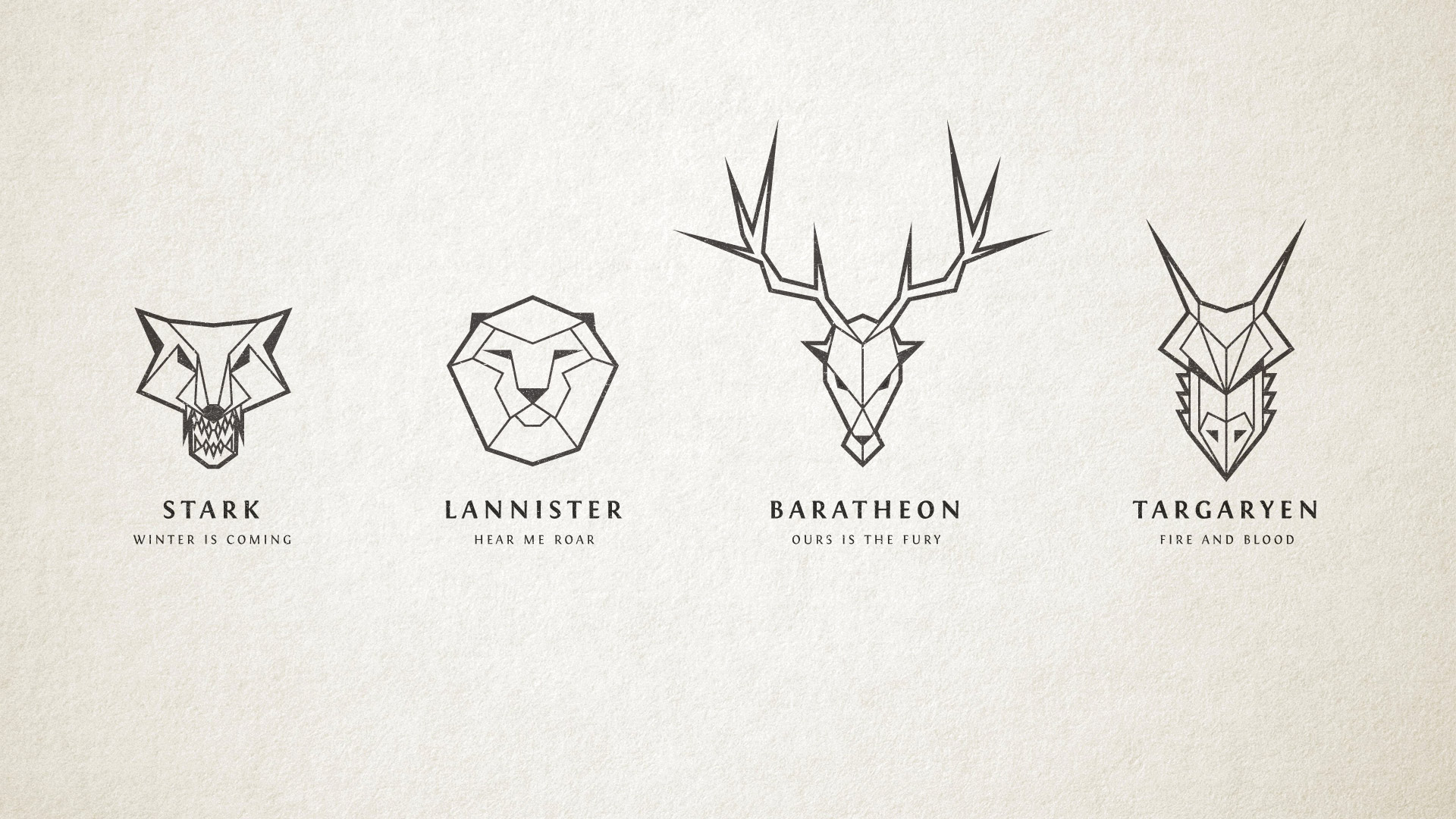 How To Make Straight Line Art : Game of thrones inspired line art logos in illustrator