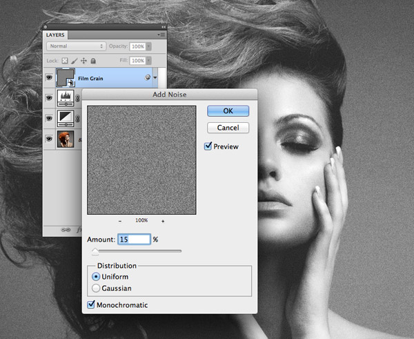 How To Create a Grainy B&W High Fashion Photo Effect