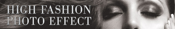 How To Create a Grainy B&W High Fashion Photo Effect