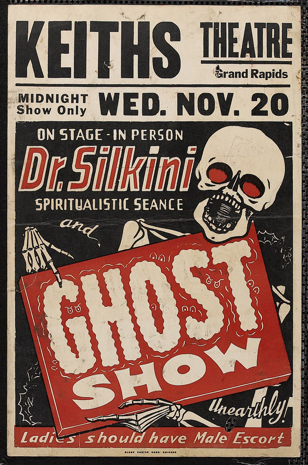 Dr. Slikini Ghost Show Window Card by Scott Ramsay
