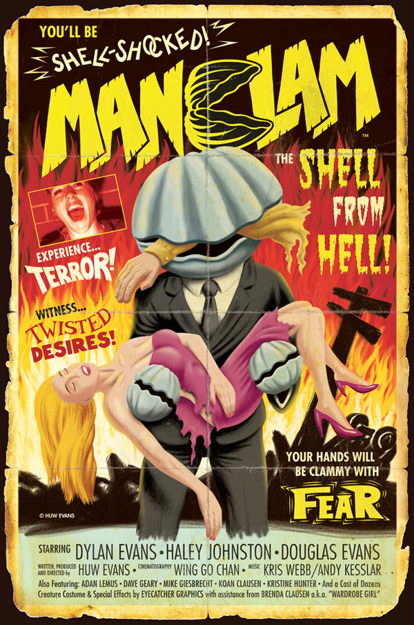 MANCLAM B-Movie Poster by Huw