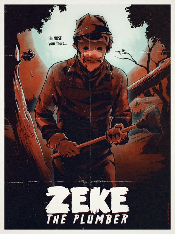 Zeke the Plumber Print by Michael Anderson