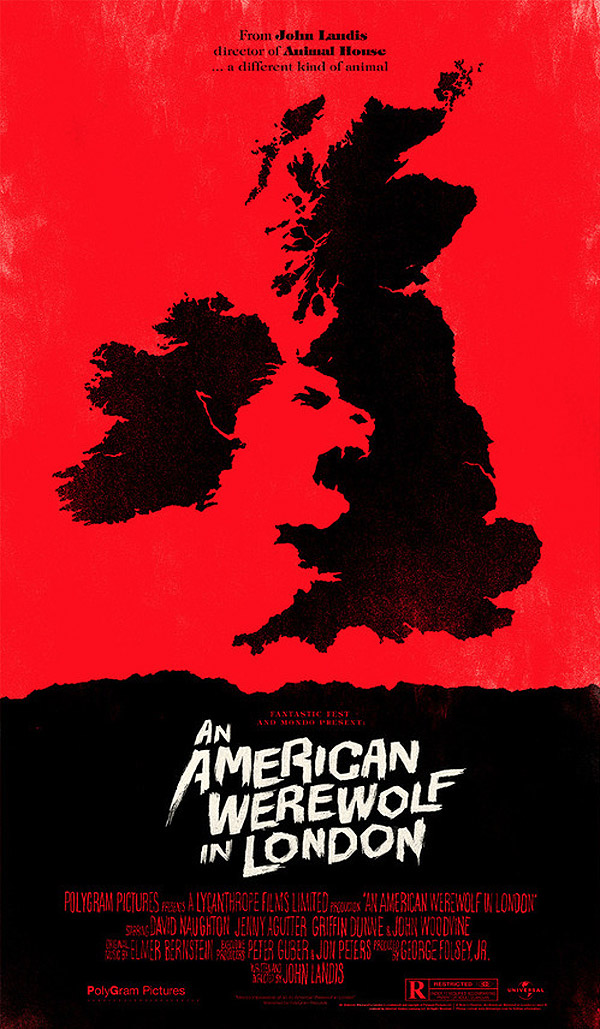 An American Werewolf in London by Olly Moss