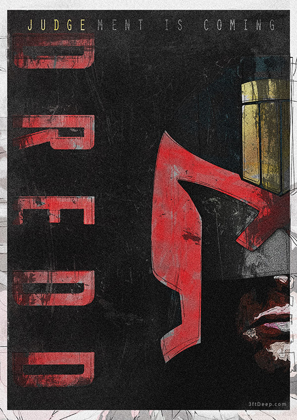 Judge Dredd Alternative Movie Poster by 3ftDeep