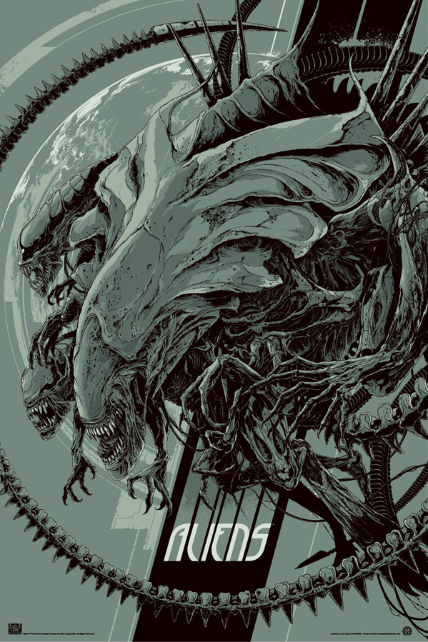 Aliens Movie Poster by Ken Taylor