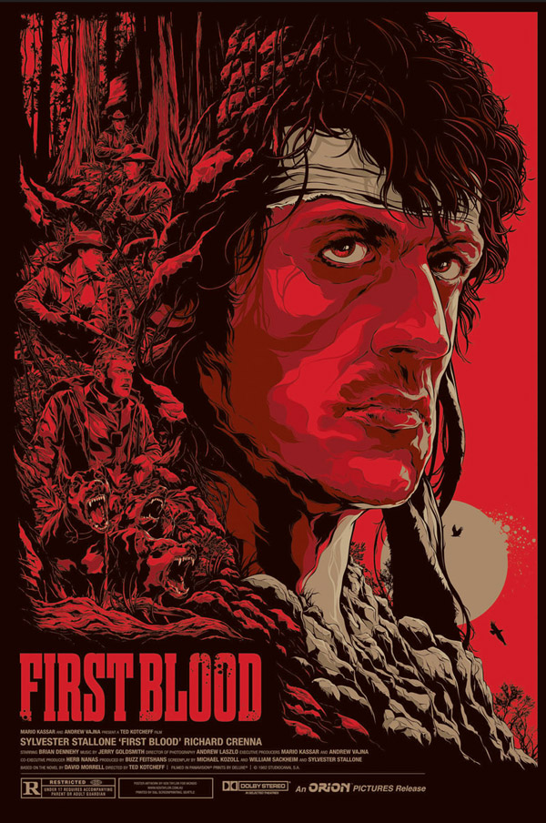 First Blood Movie Poster by Ken Taylor