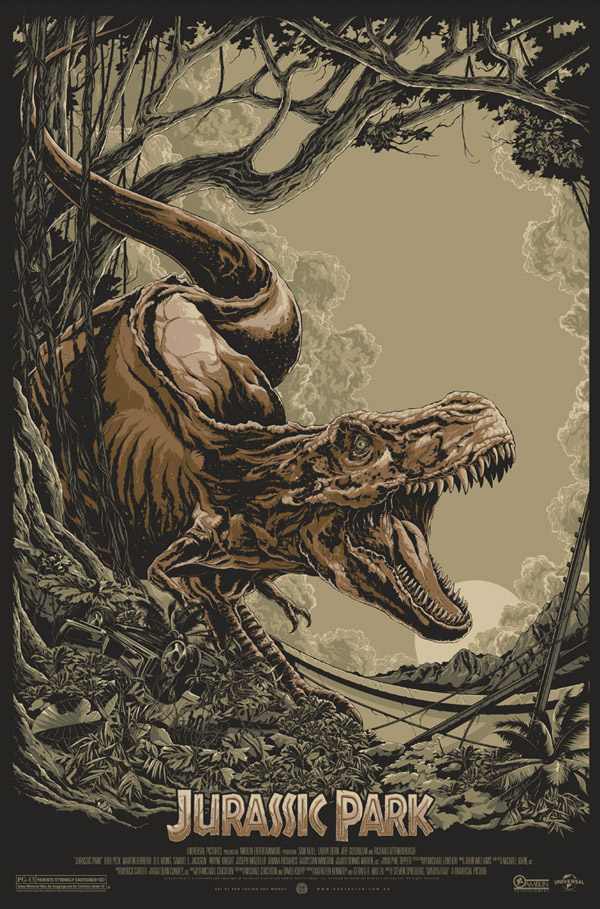Jurassic Park Movie Poster by Ken Taylor