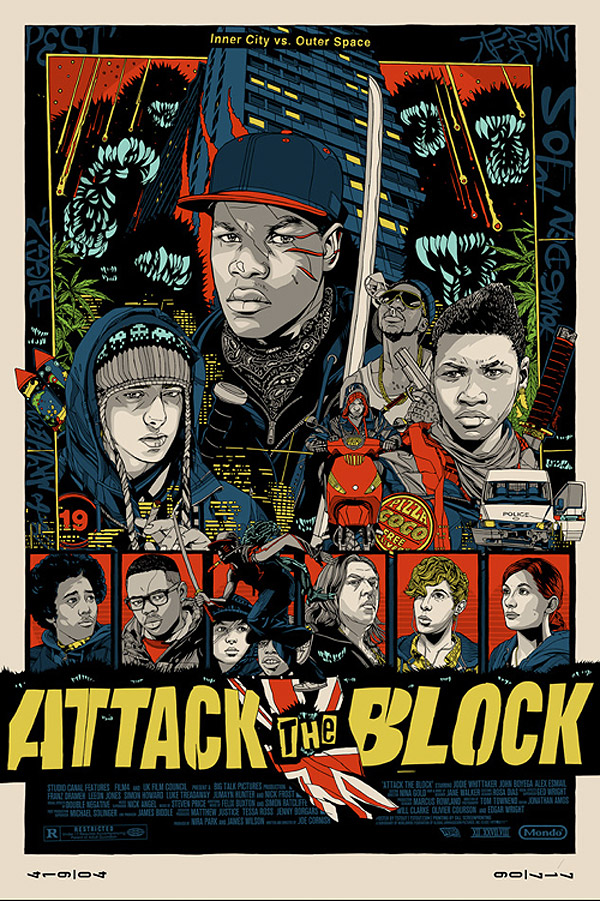 Attack The Block Poster by Tyler Stout