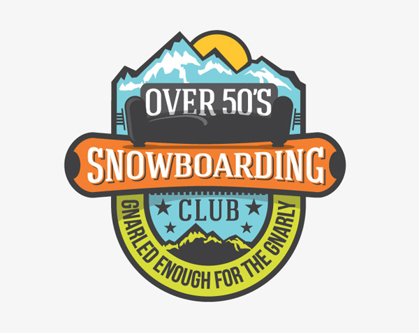 Over 50s Snowboarding by Angus Griffin
