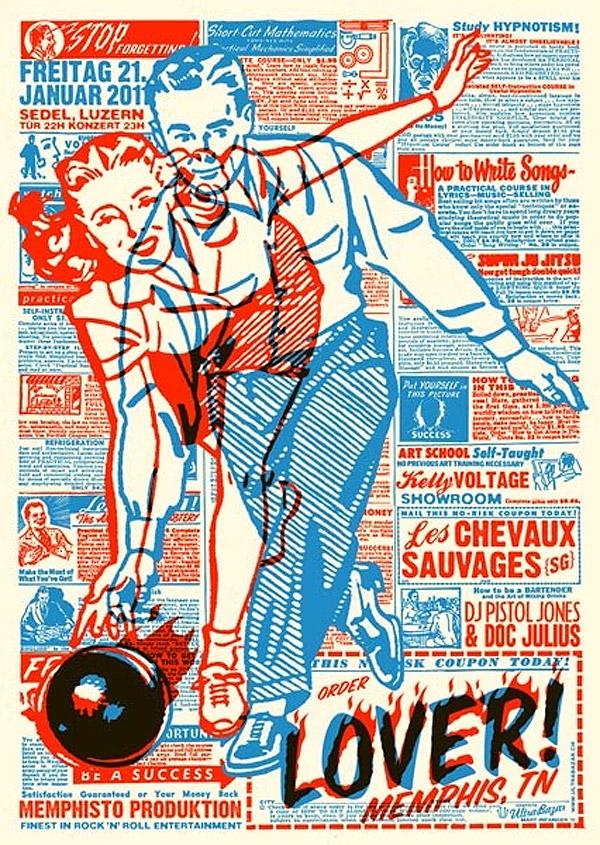 Lover! Gig Poster by Mart Infanger