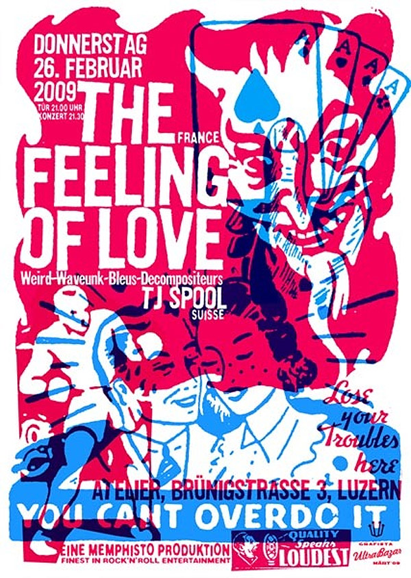 The Feeling of Love Gig Poster by Mart Infanger