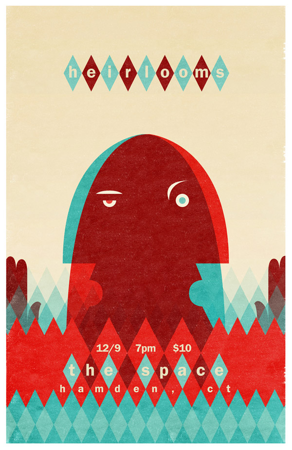 Heirlooms Gig Poster by Brian Cook