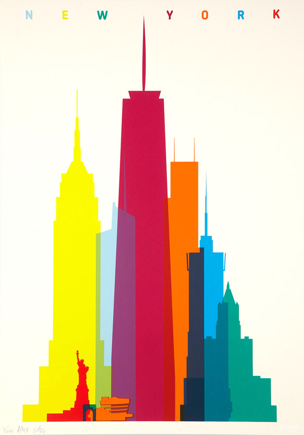 Shapes of Cities Screenprints by Yoni Alter