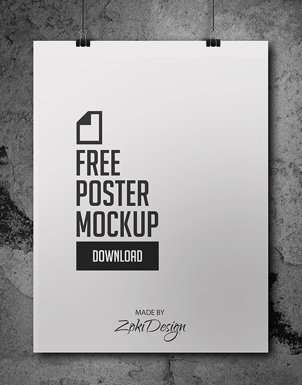 Free Poster Mockup by ZokiDesign