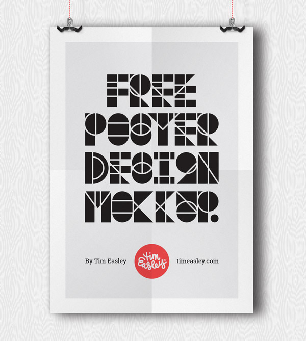 Free Poster Design Mockup by Tim Easley