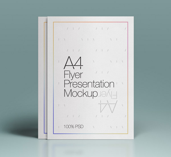 A4 PSD Flyer Mock-Up by Pixeden