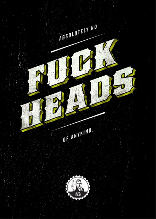 No Fuck Heads by Ben Bologna