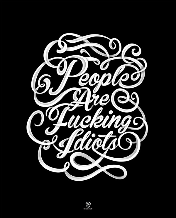 Typography Work by Christine Calo