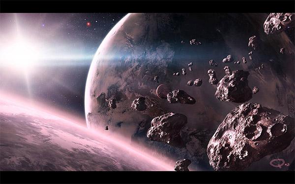 Space Scene WP by QAuZ