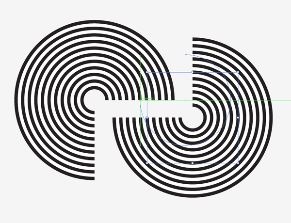 A Line Design : How to create geometric stripy line art in illustrator