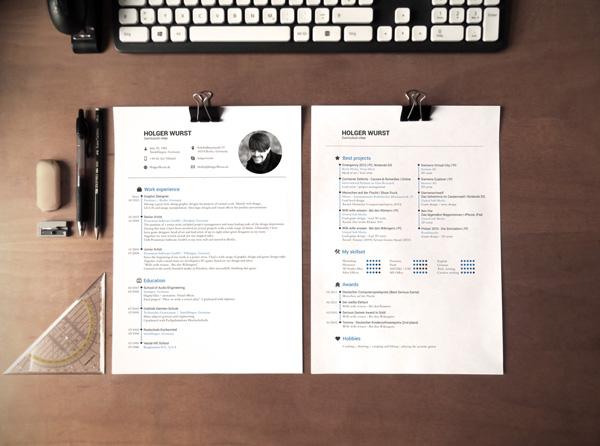 CV Mockup Template by Holger Wurst