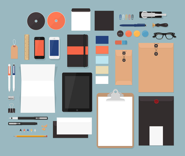 Flat MockUps by GraphicBurger