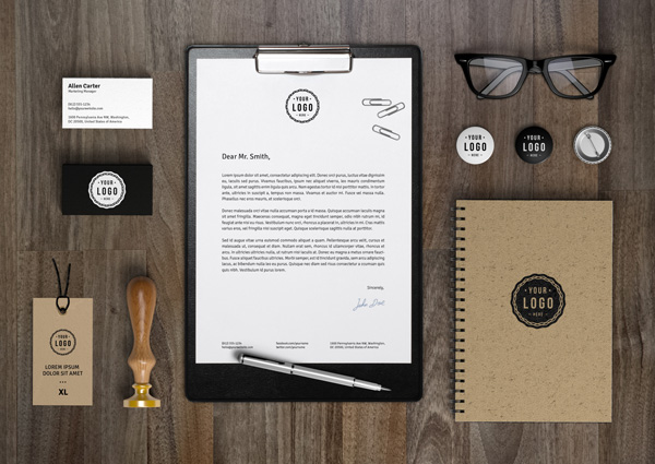 Branding /Identity MockUp by GraphicBurger